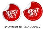 best buy stickers | Shutterstock .eps vector #214020412