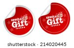 special gift stickers | Shutterstock .eps vector #214020445