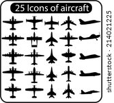 Set Of Different Airplane Icon...