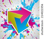 paint explosion  impossible... | Shutterstock .eps vector #214022356