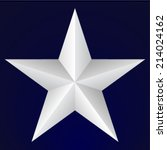 Five Pointed Star On Blue...