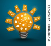 lamp polygonal 3d idea. vector... | Shutterstock .eps vector #214024786