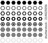 Hexagon set - vector version  | Shutterstock vector #214025056
