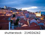 view on the old town alfama in... | Shutterstock . vector #214026262