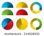 set of 4 colorful half pie... | Shutterstock .eps vector #214028332