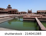 the palace of fatehpur sikri in ... | Shutterstock . vector #214041385