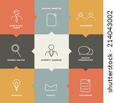 flat template. vector banner.... | Shutterstock .eps vector #214043002