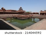 the palace of fatehpur sikri in ... | Shutterstock . vector #214044592