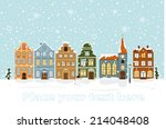 Winter Cityscape Vector...