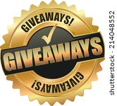 gold giveaways vector eps10 sign