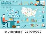 flat modern design vector... | Shutterstock .eps vector #214049032