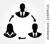 businesspeople icons linking... | Shutterstock .eps vector #214049122