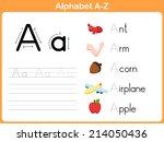 alphabet tracing worksheet ... | Shutterstock .eps vector #214050436