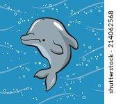 dolphin | Shutterstock .eps vector #214062568