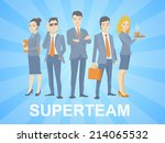 vector illustration of a super... | Shutterstock .eps vector #214065532