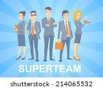 vector illustration of a super... | Shutterstock .eps vector #214065532