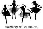 raster set of woman dancing