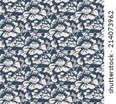 seamless pattern   flowers... | Shutterstock .eps vector #214073962