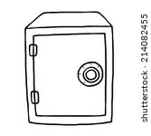safe box   cartoon vector and... | Shutterstock .eps vector #214082455
