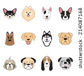 dogs collection vector | Shutterstock .eps vector #214087168