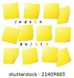 yellow notes | Shutterstock .eps vector #21409885