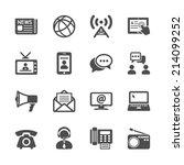 communication icon set  vector... | Shutterstock .eps vector #214099252