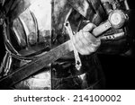 knight wearing armor and... | Shutterstock . vector #214100002