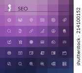 seo and development line icons...   Shutterstock .eps vector #214100152