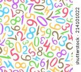 seamless pattern of randomly... | Shutterstock .eps vector #214101022
