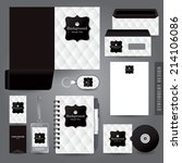stationery set design  ... | Shutterstock .eps vector #214106086