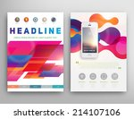abstract triangle geometric... | Shutterstock .eps vector #214107106