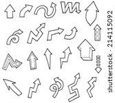 vector set of arrow   Shutterstock .eps vector #214115092