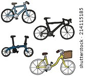 vector set of bicycle | Shutterstock .eps vector #214115185