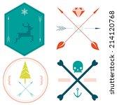 corporate identity   set of... | Shutterstock .eps vector #214120768