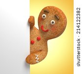 Gingerbread Man Holding White...