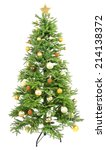 decorated christmas tree... | Shutterstock . vector #214138372