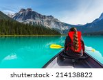 Постер, плакат: Canoeing on Emerald Lake