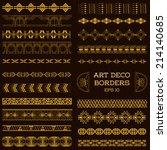 art deco vintage borders and... | Shutterstock .eps vector #214140685