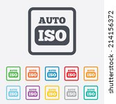 iso auto photo camera sign icon....   Shutterstock .eps vector #214156372