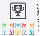 basketball sign icon. sport... | Shutterstock .eps vector #214162315