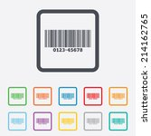 bar code sign icon. scan code... | Shutterstock .eps vector #214162765