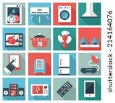 set of household appliances... | Shutterstock .eps vector #214164076