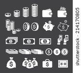 money icon   Shutterstock .eps vector #214170805