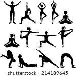 yoga figures | Shutterstock .eps vector #214189645