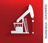 oil industry design on red... | Shutterstock .eps vector #214194952