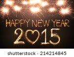 happy new year 2015 written...   Shutterstock . vector #214214845