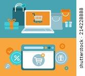 vector internet shopping... | Shutterstock .eps vector #214228888
