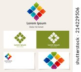 abstract square logo design... | Shutterstock .eps vector #214229506