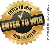 modern gold enter to win vector ...   Shutterstock .eps vector #214241572