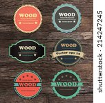 vintage label collection on... | Shutterstock .eps vector #214247245